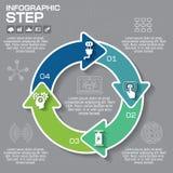 Infographic vektorcirkelpussel Mall för diagrammet, graf, p Royaltyfri Bild