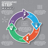 Infographic vektorcirkelpussel Mall för diagrammet, graf, p Royaltyfria Bilder