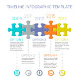 Infographic vektordesign för modern timeline Royaltyfria Foton