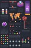 Infographic vektordesign | Lagerföra vektorn Fotografering för Bildbyråer