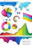 Infographic vektorelemente Stockbilder