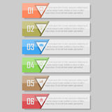 Infographic vektorillustration kan användas för workfloworientering, diagram, numrerar den optionsinfographic vektorillustratione Fotografering för Bildbyråer