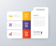 Infographic vertical 3 tab index design vector and marketing tem Royalty Free Stock Image