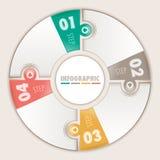 Infographic vier Schritte Lizenzfreie Stockfotos