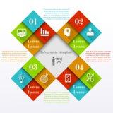 Infographic vierkante elementen stock illustratie