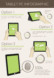 Infographic visualization of usability tablet pc Royalty Free Stock Images