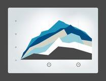 Infographic vlakke grafiek Royalty-vrije Stock Afbeeldingen