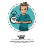 Infographic voetbaltoernooien Stock Foto's