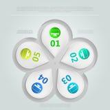 Infographic voor groepswerk Royalty-vrije Stock Foto