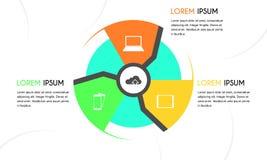 Infographic Wahl 8 des Wolkenkreises Lizenzfreie Stockbilder