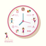 Infographic watch and flat icons idea. Vector illustration. heal Royalty Free Stock Images