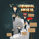 Infographic of Ways to Financial Success. A vector illustration of infographic of ways to financial success Royalty Free Stock Photo