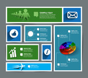 Infographic Web Banner Design Royalty Free Stock Photos