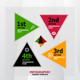 Infographic web banner design template Royalty Free Stock Photos