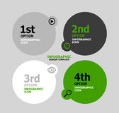 Infographic web banner design template Stock Images