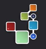 Infographic web design template. design frame Stock Image