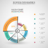 Infographic wektorowa ilustracja, Biznesowy tło Fotografia Stock