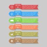 Infographic wektoru ilustracja może używać dla obieg układu, diagram, liczby optionsinfographic wektorowa ilustracja Obrazy Stock