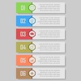 Infographic wektoru ilustracja może używać dla obieg układu, diagram, liczby optionsinfographic wektorowa ilustracja Fotografia Royalty Free