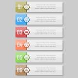 Infographic wektoru ilustracja może używać dla obieg układu, diagram, liczby optionsinfographic wektorowa ilustracja Fotografia Stock