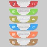 Infographic wektoru ilustracja może używać dla obieg układu, diagram, liczby optionsinfographic wektorowa ilustracja Zdjęcia Royalty Free