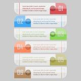 Infographic wektoru ilustracja może używać dla obieg układu, diagram, numerowe opcje, sieci desig Zdjęcia Royalty Free