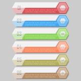 Infographic wektoru ilustracja może używać dla obieg układu, diagram, numerowe opcje, sieci desig Obrazy Royalty Free
