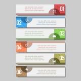 Infographic wektoru ilustracja może używać dla obieg układu, diagram, numerowe opcje, sieci desig Fotografia Royalty Free