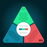 Infographic wektoru ilustracja może używać dla obieg układu, diagram, numerowe opcje, sieci desig Fotografia Stock