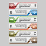 Infographic wektoru ilustracja może używać dla obieg układu, diagram, numerowe opcje, sieci desig Obraz Stock