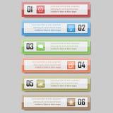Infographic wektoru ilustracja może używać dla obieg układu, diagram, numerowe opcje, sieci desig Zdjęcie Royalty Free
