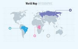 Infographic-Weltkarte vektor abbildung