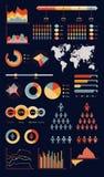 Infographic wereldkaart royalty-vrije illustratie
