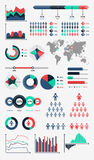 Infographic wereldkaart stock illustratie