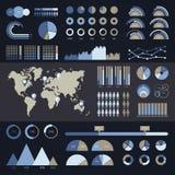 Infographic wereldkaart Royalty-vrije Stock Foto's