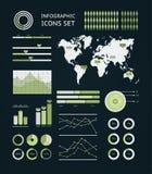 Infographic wereldkaart Royalty-vrije Stock Fotografie