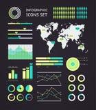 Infographic wereldkaart Stock Afbeeldingen