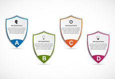 Infographic With Security Shield. Infographics For Business Presentations Or Information Banner.