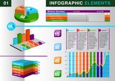 INFOGRAPHIC wykresu ELEMENT Zdjęcie Stock