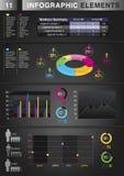 INFOGRAPHIC wykresu ELEMENT Obrazy Stock