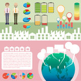 Infographic z ludźmi i wykresami royalty ilustracja