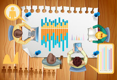 Infographic z ludźmi biznesu i wykresami Obraz Stock