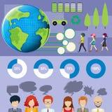 Infographic z ludźmi i wykresami Obrazy Stock