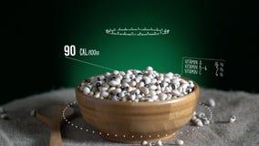Infographic Z Podbitym Okiem groch z witaminami, mikroelement kopaliny Energia, kaloria i składnik, royalty ilustracja