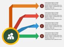 Infographic Z strzała szablonem Fotografia Royalty Free