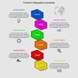 Infographic-Zeitachsevektor Stockfotografie
