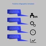 Infographic-Zeitachsevektor Lizenzfreie Stockfotografie