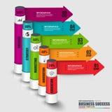 Infographic-Zylindervektor-Designschablone Stockbilder