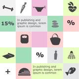 Infographicachtergrond Royalty-vrije Stock Fotografie