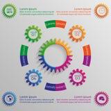 Infographicachtergrond met kleurrijke toestellen Royalty-vrije Stock Afbeelding